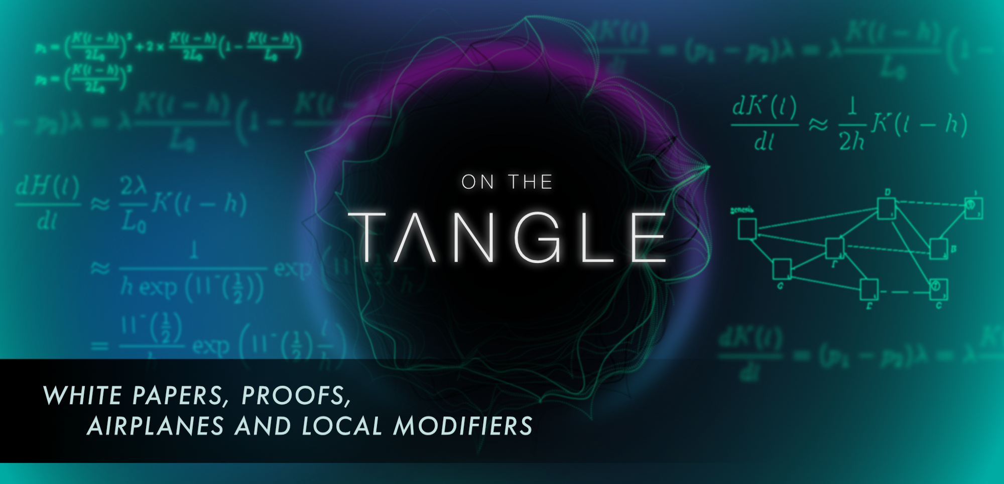 On the Tangle, White Papers, Proofs, Airplanes, and Local Modifiers