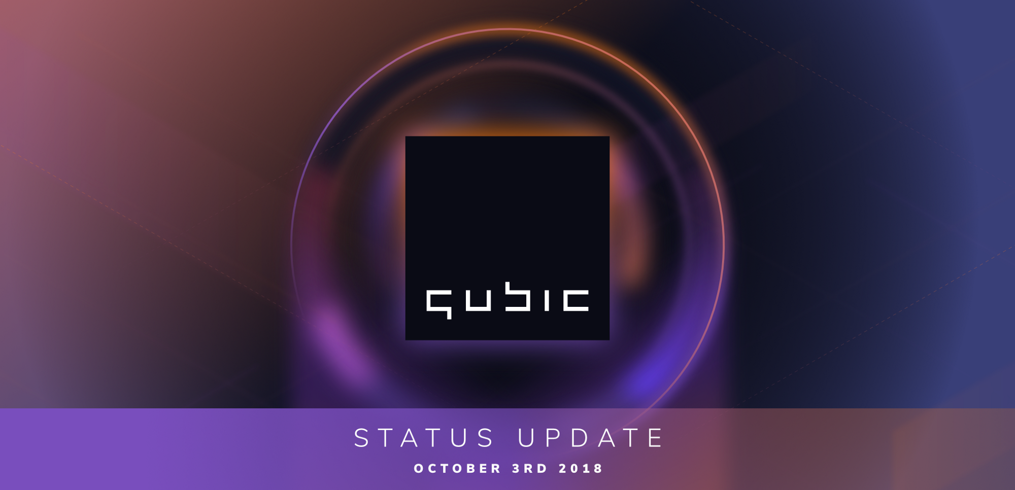 Qubic status update October 3rd 2018